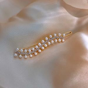 韩国波浪珍珠ins网红少女夹子头饰仙女森林系超仙发夹