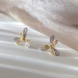S925银针韩国清新小巧花朵一款两戴森系超仙高级感小众耳钉女
