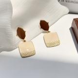 S925银针韩国东大门高级感几何滴釉气质简约少女耳钉