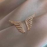 S925银针韩国2020新款天使之翼个性简约气质网红同款耳钉