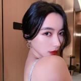 S925银针韩国高级感文艺抽象派荷叶猫眼镶钻气质网红耳钉