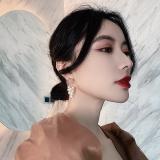 S925银针韩国天然珍珠2020新款潮高级感流苏网红气质长耳耳钉