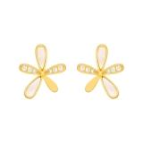 S925银针韩国小雏菊气质网红简约小巧耳坠耳饰耳钉