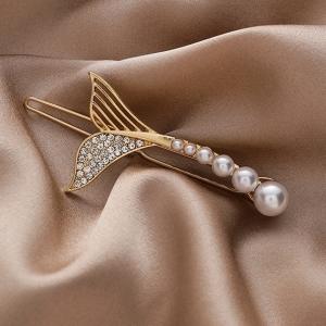 韩国小众设计美人鱼尾发夹边夹网红气质发饰头饰一字夹