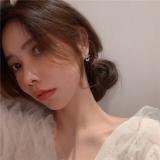 S925银针韩国蝴蝶结气质简约镂空领结时尚镶钻耳钉耳饰女