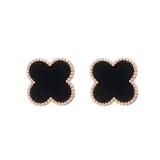 【5-20出货】S925银针韩国东大门四叶草可爱少女心冷淡风简约复古耳钉耳环