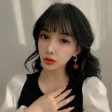 S925银针韩国气质珍珠2021年新款潮网红个性设计感法式耳钉耳饰女