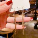 【真金电镀】S925银针韩国简约气质冷淡风时尚长款流苏耳环耳饰女