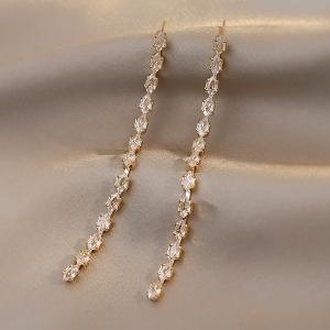 【真金电镀】S925银针韩国长流苏耳环女高级感轻奢气质耳坠耳饰女