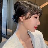 【真金电镀】S925银针韩国高级感锆石水滴耳环潮女耳饰简约时尚百搭耳饰