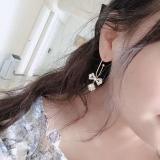 【5-26左右出货】S925银针韩国东大门高级感锆石蝴蝶结水晶钻球气质网红耳钉女