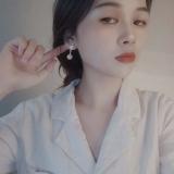 S925银针韩国复古精致猫眼石镶钻星芒气质百搭耳钉耳饰女
