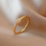 【真金电镀】韩国小众时尚个性ins潮食指锆石网红简约冷淡风戒指