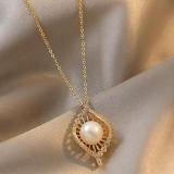 【真金电镀】韩国小CK复古珍珠项链女高级感轻奢小众设计感锁骨链