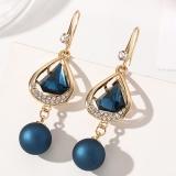 【真金电镀】S925银针韩国新款水晶耳钉时尚大方星星耳环耳饰女