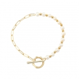 韩国夏天珍珠拼接ins潮小众设计感新款轻奢精致个性手饰手链女