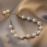韩国花式珍珠ins风小众设计简约超仙温柔风少女新款手链