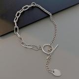 【10-24左右】韩国OT形扣链条ins小众设计冷淡风复古百搭个性简约手环手饰