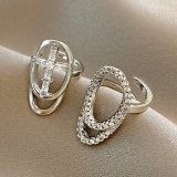【真金电镀】韩国超仙设计感指甲时尚个性ins潮冷淡风时尚美甲装饰指环