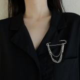 韩国ins潮原宿风链条男女街头时尚金属别针西服装饰个性胸针