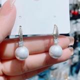 【真金电镀】韩国新款小巧气质时尚感大气小众设计感珍珠耳环耳饰女