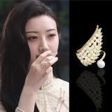 【真金电镀】韩国珍珠戒指小众设计感冷淡风ins潮时尚可调节指环